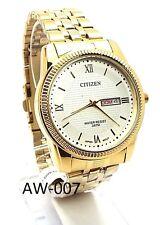 New Citizen Man  Gold-tone, White-dial, Day-date-window Dress Watch