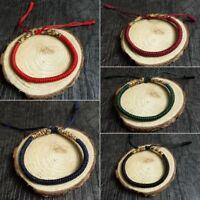 Women Men Tibetan Buddhist Handmade Knot Rope Love Lucky Charm Bracelets Bangles