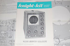 Original! Knight Kit  Laboratory Oscilloscope KG-2100 ASSEMBLY Manual