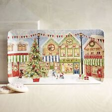 CHRISTMAS VILLAGE PLATTER, TRAY, NEW, IRONSTONE, PIER 1, CHRISTMAS SCENES