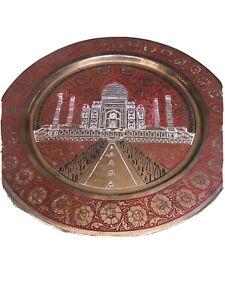 Metal Brass Wall Plate Taj Mahal Wall Hanging Wall Decor