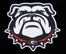 "GEORGIA BULLDOGS DAWG HEAD WINDOW AUTO DECAL STICKER RED BLACK AND WHITE 3""X3"""