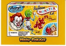 2018 WACKY PACKAGES GO TO THE MOVIES GOLD CARD PENNYWISE IT DAVID GROSS 1/1