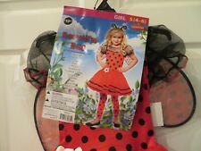 NWT Girls Beautiful Bug Goodmark Halloween Costume, Size S 4 / 6