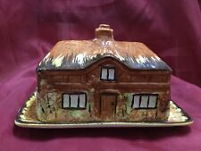 Vintage Price Bros Cottage Ware Butter Dish Made In England House Rare Shape