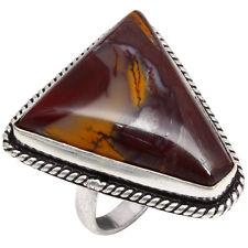 "Birthday 925 Silver Jewelry Ring ""8"" Aaa+ Mookaite Jasper Gemstone Gift For"
