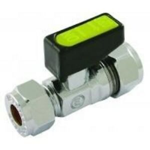 15mm  X 8MM C X C STRAIGHT  MINI ISOLATING GAS BALL VALVE ( WATER / GAS / OIL )