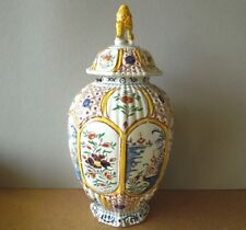 Vase Krug mit Deckel Deckeldose altes Japan ? alt Löwe 17. Jahrh. asiatika 35 cm