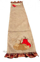 Melrose Thanksgiving Appliqued Table Runner 13x72 inches Polyester