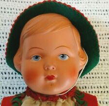 Cellba Warenfabrik Winged Mermaid 10 in 25 cm Vintage Christmas Celluloid Doll