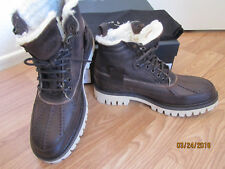 RAG & BONE Leather & Shearling SPENCER Duck Boots Brown Size 10 /43 ~NIB~