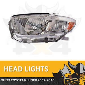 LHS Headlight to suit Toyota Kluger 2007-2010 Replacement Passenger Side