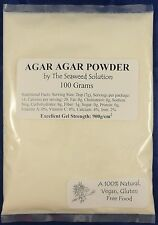AGAR AGAR POWDER - 100 grams - All Natural Seaweed - U.S. Seller!