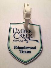 Timber Creek Golf Club Golf Bag Tag - Friendswood, Texas - A Beauty!