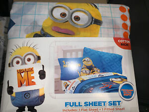 New Despicable Me Minions 4pc Full Bedding Sheet Set Boy Girl ULTRA SOFT Decor