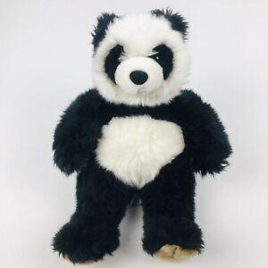 "BUILD-A-BEAR Panda Bear Measures 15"" Black & White Brown Paws Very Clean!"
