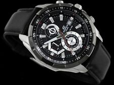 Imported Casio Edifice EFR-539L1av Black Leather strap