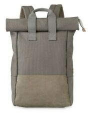 Whistles x Buddy Made in Japan Dexter Canvas & Leather Roll Top Backpack Grey