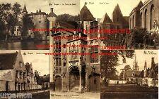 5 Ansichtskarten BRÜGGE Brugge BRUGES 1915 Belgien Belgique ungelaufen TOP