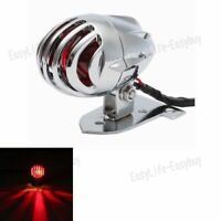 Motorcycle Chrome Rear Tail License Light For Yamaha Bobber Chopper Harley EZ