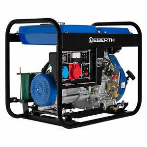 EBERTH 5kW E-Start Diesel Stromerzeuger Notstromaggregat 3-Phasen B-Ware