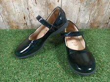 Authentic Pelle Womens Girls Black School Shoes Strap Sandals Size 3 UK 36 EUR