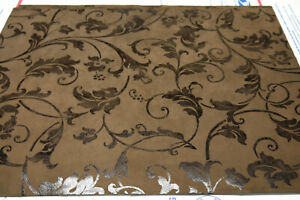 """Large Leather panels Floral 2 pieces 2 colors Top Quality 18""""x 24"""" Coffe,Taupe"""