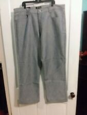 Big Man's White Wash Blue Gray  Color Jeans 44W 32L Blue  Refuse Brand NEW