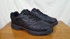 Men's Dr Scholl's Black Leather Athletic Walking Sneaker Comfort Shoes - Size 9M