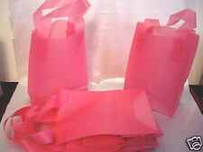 10 Rose Pink Frosty Merchandise Party Gift Bags W/ Handles