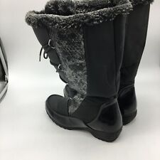"Sport Snow Boots "" Predator"" Black With Fur Lining, Size 9.0 M"