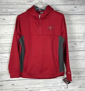 Colosseum Arkansas Razorbacks 1/4 Zip Youth Hoodie Jacket Size M (12-14) NWT