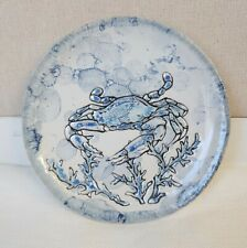 "NEW Spectrum Designz Chesapeake Bay Blue Crab Appetizer Plates 6"" Set Of 4"