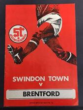 Swindon Town v Brentford, Div 3, 12th September 1978