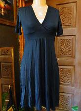 GAP Womens Black V-Neck Short Sleeve Empire Waist Rayon Slip Dress XS
