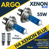 H4 55w Xenon Hid Super Blue + 501 Led Side Lights Headlight Lamps 472 Bulbs 12v