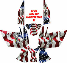 SKI DOO WRAP KIT MINI REV 2004 THROUGH 2013 FLAG V1
