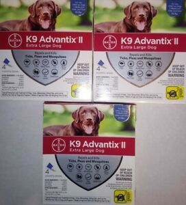 BAYER K9 ADVANTIX II FLEA & TICK TREATMENT FOR EXTRA LARGE DOGS 55 lbs AND OVER