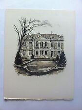 Fenetres HOTEL VERSAILLES LITHOGRAPHIE signée RENE AUBERT Papier Velin XXème