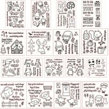 Animals Christmas Clear Rubber Stamps Stamping Scrapbooking Diy Crafts Embossing