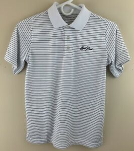 NIKE GOLF Boy's Sea Island Dri-Fit Striped Performance Golf Polo Shirt Size M