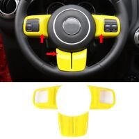 3x Yellow Steering Wheel Cover Trim fits Wrangler Compass Patriot Grand Cherokee