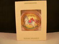 HALLMARK ORNAMENT 1981 GRANDDAUGHTER-----SATIN BALL-----DATED