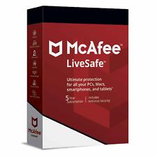 McAfee LiveSafe Antivirus 2021 - 1 Devices, 5 Years