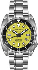 ✅ NETHUNS LAVA II STEEL LS214 YELLOW DIVER 600M INTERNATIONAL SHIPPING US DEALER