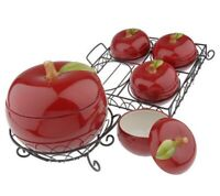Temp-tations by Tara Fresh Crop 7-pc. Apple Ceramic Oven-to-Table Set NEW NIB