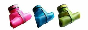 FOLDABLE SILICONE WATER, JUICE BOTTLE - Assorted Sizes and Colours - Brand New