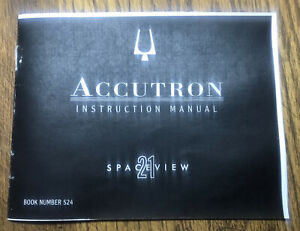Accutron Spaceview 21 Instruction Manual #524 - Booklet Only