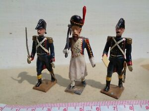 CBG Mignot Napoleonic French lot of 3 Officers & Sapper, lead figure, JL