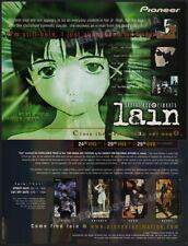 SERIAL EXPERIMENTS LAIN__Original 1999 Trade Print AD / ADVERT / anime__manga